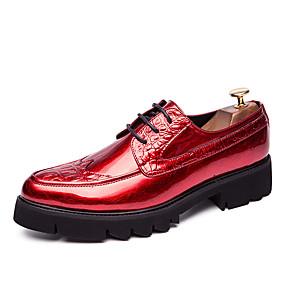 baratos Oxfords Masculinos-Homens Sapatos formais Microfibra Primavera Verão / Outono & inverno Negócio / Casual Oxfords Respirável Preto / Dourado / Vermelho