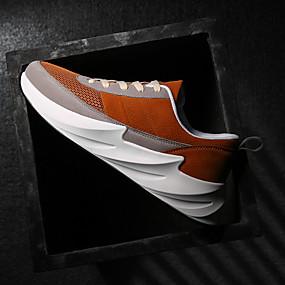 baratos Tênis Masculino-Homens Sapatos Confortáveis Tecido elástico Verão / Outono Casual Tênis Caminhada Respirável Preto / Vermelho / Marron / Ao ar livre
