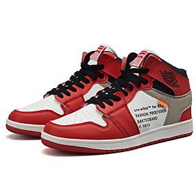 baratos Sapatos Esportivos Masculinos-Unisexo Sapatos Confortáveis Couro Ecológico Verão Tênis Corrida Branco / Vermelho / Azul