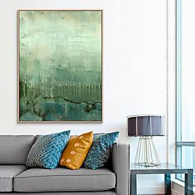 baratos Pinturas-Impressão de Arte Emoldurada Quadros Emoldurados Estampadas - Abstrato Poliestireno Pintura de Óleo Arte de Parede
