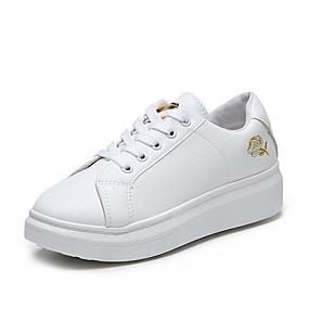 voordelige Damessneakers-Dames Sneakers Creepers Ronde Teen PU Lente & Herfst Goud / Zilver