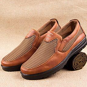 baratos Sapatilhas e Mocassins Masculinos-Homens Sapatos Confortáveis Com Transparência Verão Mocassins e Slip-Ons Preto / Café