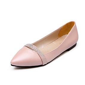 voordelige Damesschoenen met platte hak-Dames Platte schoenen Platte hak Gepuntte Teen Sprankelend glitter PU minimalisme Lente & Herfst Zwart / Paars / Roze