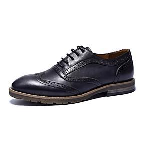 baratos Oxfords Masculinos-Homens Sapatos Confortáveis Couro Primavera Oxfords Preto / Café