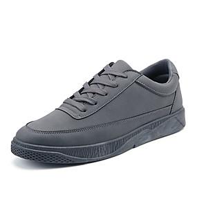 baratos Tênis Masculino-Homens Sapatos Confortáveis Couro Ecológico Verão Tênis Preto / Branco / Vermelho