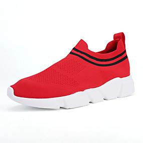 baratos Sapatos Esportivos Masculinos-Unisexo Sapatos Confortáveis Com Transparência Primavera Verão Casual Tênis Preto / Vermelho