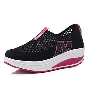 voordelige Damessneakers-Dames Sneakers Speciale hak Ronde Teen Netstof Informeel Lente zomer Zwart / Paars / Fuchsia / leuze