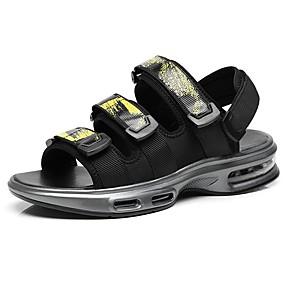 baratos Sandálias Masculinas-Homens Sapatos Confortáveis Sintéticos Verão Sandálias Branco / Amarelo / Azul