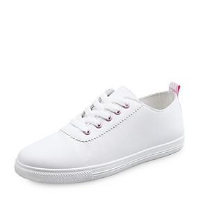voordelige Damessneakers-Dames Sneakers Platte hak Ronde Teen PU Lente & Herfst Zwart / Roze