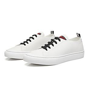 baratos Tênis Masculino-Homens Sapatos Confortáveis Pele Verão Tênis Branco