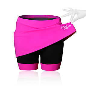 cheap Weekly Clearance Sale-21Grams Women's Cycling Skirt Bike Shorts / Skirt / Padded Shorts / Chamois Breathable, 3D Pad Solid Colored, Patchwork, Classic Spandex Black / Blue / Pink Advanced Mountain Cycling Semi-Form Fit
