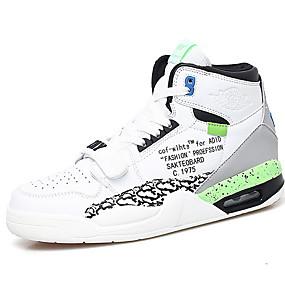 baratos Sapatos Esportivos Masculinos-Homens Sapatos Confortáveis Couro Ecológico Verão Tênis Respirável Estampa Colorida Branco / azul / Branco e Verde / Laranja