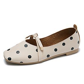 voordelige Damesschoenen met platte hak-Dames Platte schoenen Platte hak Vierkante Teen PU Zomer Zwart / Lichtblauw / Beige