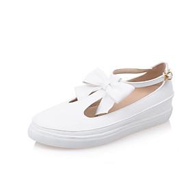 voordelige Damesinstappers & loafers-Dames Loafers & Slip-Ons Lage hak Ronde Teen PU Informeel Lente zomer Zwart / Wit / Beige