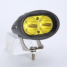 abordables Nouvelles arrivées en août-1pcs 20w voiture led double tasse de lampe réfléchissante conduite lampe sportlight pour 10-60v dc véhicule suv