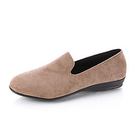 voordelige Damesinstappers & loafers-Dames Loafers & Slip-Ons Platte hak Ronde Teen Microvezel Lente & Herfst Zwart / Bordeaux / Roze