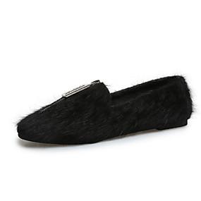 voordelige Damesinstappers & loafers-Dames Loafers & Slip-Ons Platte hak Ronde Teen Suède Herfst Zwart / Khaki