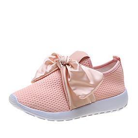 voordelige Damessneakers-Dames Sneakers Platte hak Ronde Teen Tissage Volant Lente zomer / Herfst winter Zwart / Roze / Donkerblauw