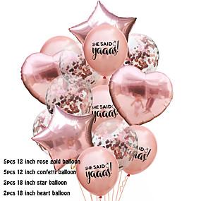 abordables Petits Cadeaux de Fête-Lot de ballons Émulsion 1 set Mariage