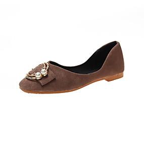 voordelige Damesinstappers & loafers-Dames Loafers & Slip-Ons Platte hak Vierkante Teen PU Zomer Zwart / Bruin / Beige