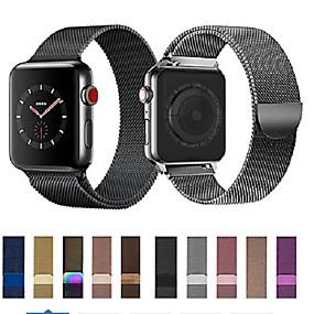 billige Smartwatch Bands-Klokkerem til Apple Watch Series 5/4/3/2/1 Apple Milanesisk rem Rustfritt stål Håndleddsrem