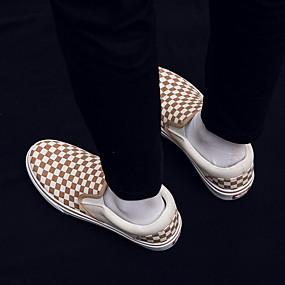voordelige Damessneakers-Dames Sneakers Platte hak Ronde Teen Canvas Zomer Zwart / Rood / Khaki