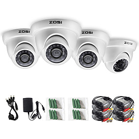 رخيصةأون كاميرات CCTV-Zosi 4 قطعة / الوحدة 1080 وعاء hd tvi 2.0mp cctv قبة الكاميرا نظام أمن الوطن للماء ل 1080 وعاء hd-tvi أنظمة dvr