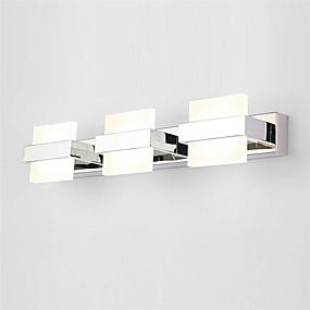 billige Nyheter-50 cm 18w moderne led soverom speil lampe baderom lys rustfritt og akryl vegglampe make-up belysning