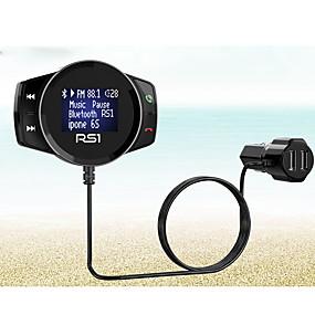billige Nyankomne i oktober-Bluetooth lader bil fm modulator stereo auto mp3-spiller lydadapter fm sender hurtiglader støtte u disk