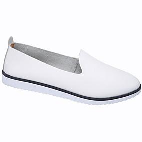 voordelige Damesinstappers & loafers-Dames Loafers & Slip-Ons Platte hak Ronde Teen PU Zomer Zwart / Wit / Oranje