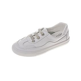 voordelige Damessneakers-Dames Sneakers Platte hak Ronde Teen PU Herfst Wit / Zilver / Rood