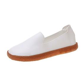 voordelige Damesinstappers & loafers-Dames Loafers & Slip-Ons Platte hak Ronde Teen PU Herfst Zwart / Wit