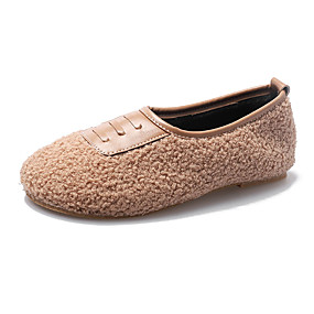 voordelige Damesinstappers & loafers-Dames Loafers & Slip-Ons Platte hak Ronde Teen Imitatiebont / PU Informeel Herfst Zwart / Bruin / Groen