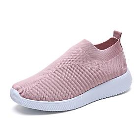 voordelige Damesinstappers & loafers-Dames Loafers & Slip-Ons Platte hak Ronde Teen Netstof Lente & Herfst / Lente zomer Zwart / Lichtblauw / Roze