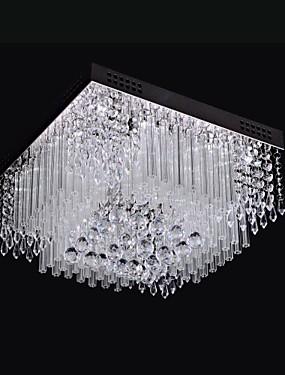 ราคาถูก บ้านและสวน-SL® Flush Mount Ambient Light มีสี โลหะ คริสตัล, LED 110-120โวลล์ / 220-240โวลต์ ขาว รวมแหล่งกำเนิดไฟ LED / แบบมี LED / แบบมี LED