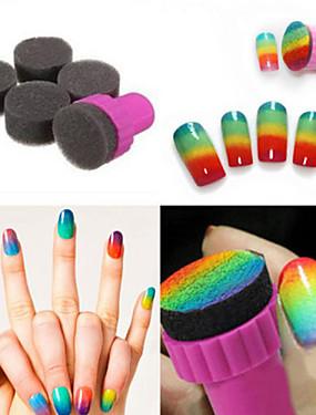 voordelige Ander Gereedschap-1 set diy 1 stamper + 4 verwisselbare spons nail art design schaduw overdracht stamper