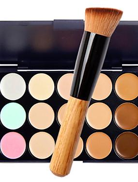 Χαμηλού Κόστους Πρόσωπο-15 Χρώματα Κονσίλερ Χακί Concealer / Contour 1 pcs Ξηρό / Υγρό / Ματ Αδιάβροχη / Αναπνέει / Λευκαντικό Σώμα / Πρόσωπο Μακιγιάζ Καλλυντικό