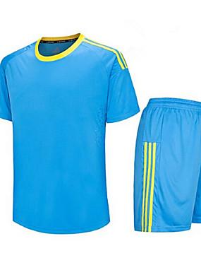 cheap Team Sports-Men's Soccer Clothing Suit Breathable Quick Dry Exercise & Fitness Leisure Sports Football / Soccer Winter Terylene Orange Sky Blue