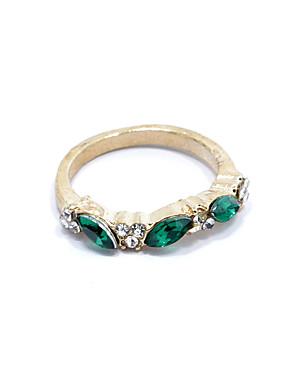 billige Fashion Rings-Dame Statement Ring Marquise 3 stein damer Mote Strass Legering Motering Smykker Sølv / Gylden Til Gave Daglig 8