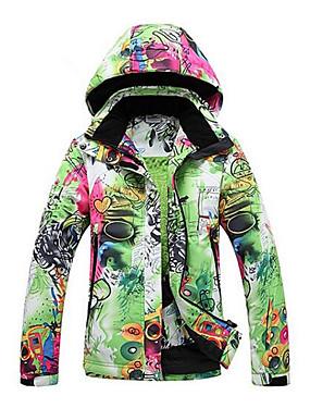 abordables Deportes y Ocio-GQY® Mujer Chaqueta de Esquí Mantiene abrigado Resistente al Viento Listo para vestir Esquí Deportes de Invierno Poliéster Chaqueta de Invierno Ropa de Esquí