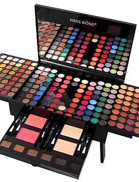 povoljno Oči-MISS ROSE 180 boja Sjenila / Kit za sjenilo za oči / Puderi Rumenilo / Marker / Bronzer Moda Dugotrajno Mindennapos smink Kozmetički