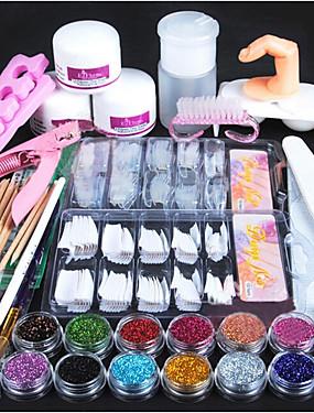 billige Neglesæt-1set Glitter Nail Art Tool Nail Art Kit Til Fingernegl Tånegl Multi-funktion Negle kunst Manicure Pedicure Chic & Moderne / Trendy / Fransk Tips Guide