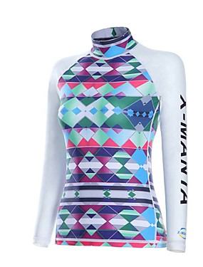 cheap Sports & Outdoors-Dive&Sail Women's Neoprene Breathable Quick Dry Anatomic Design Long Sleeve Diving Classic Floral Botanical Spring Summer / Stretchy