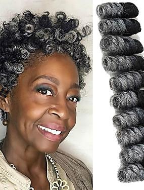 povoljno Ljepota i kosa-Kosa koja se plete Bouncy Curl / Saniya Curl Twist pletenice / Pre-loop kukičanje Pletenice Sintentička kosa / 100% kanekalon kose / Kanekalon 20 korijena / pakiranja Sušilo za pletenice Ombre 10 inch