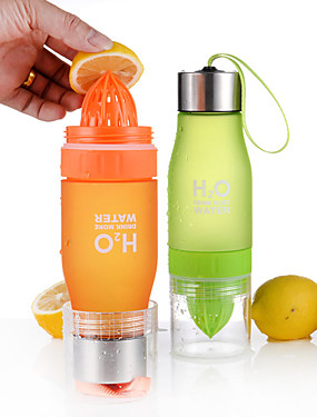 cheap Sports & Outdoors-Fruit Infuser Water Bottle 650 ml Plastics PC Portable Multi-function for Camping / Hiking Climbing Beach Red Green Blue