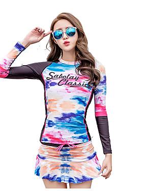 ieftine Sport i aktivnosti na otvorenom-SABOLAY Pentru femei Elastan SPF50 Protecție UV la soare Uscare rapidă Manșon Lung Înot Design Special Modă Toate Sezoanele