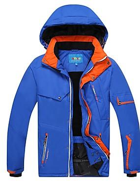رخيصةأون رياضة والخارجية-Phibee رجالي جاكيت للتزلج مقاوم للماء ضد الهواء دافئ التزلج بوليستر سترة ملابس التزلج / الشتاء
