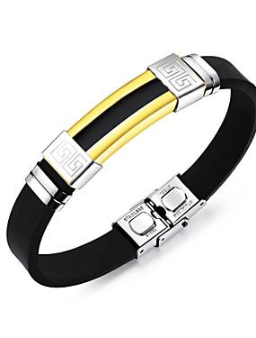 voordelige ID Armband-Heren Bangles ID-armband Modieus Roestvast staal Armband sieraden Goud / Zilver Voor Dagelijks Uitgaan