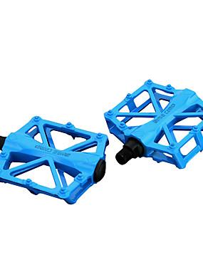 저렴한 스포츠 & 아웃도어-페달 플랫&플랫폼 사이클링 견고함 쉬운 설치 탄소 섬유 용 싸이클링 도로 자전거 산악 자전거 BMX 레드