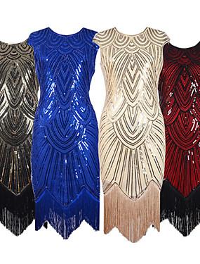 3ce0c77b651 Velký Gatsby 20. léta Kostým Dámské Šaty Kostým na Večírek Flapper Dress  Koktejlky červená + černá   stříbrná   černá   zlatá + černá Retro Cosplay  Čínský ...